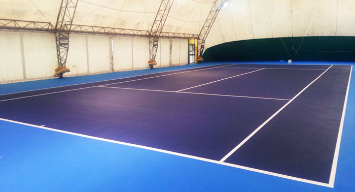Synthetic surface court covered